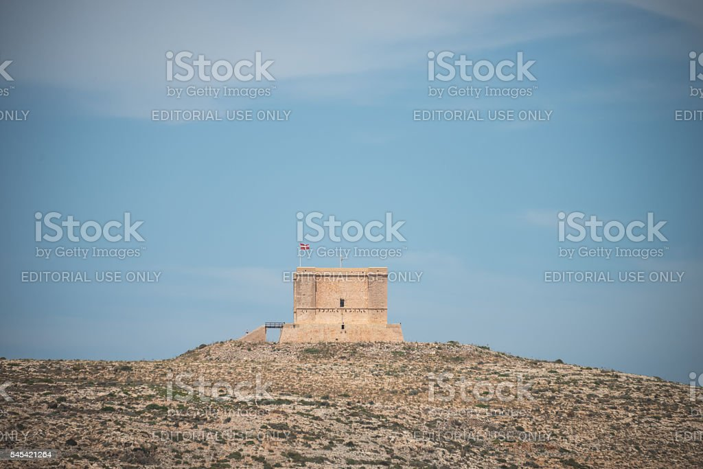 Comino fort lookout stock photo