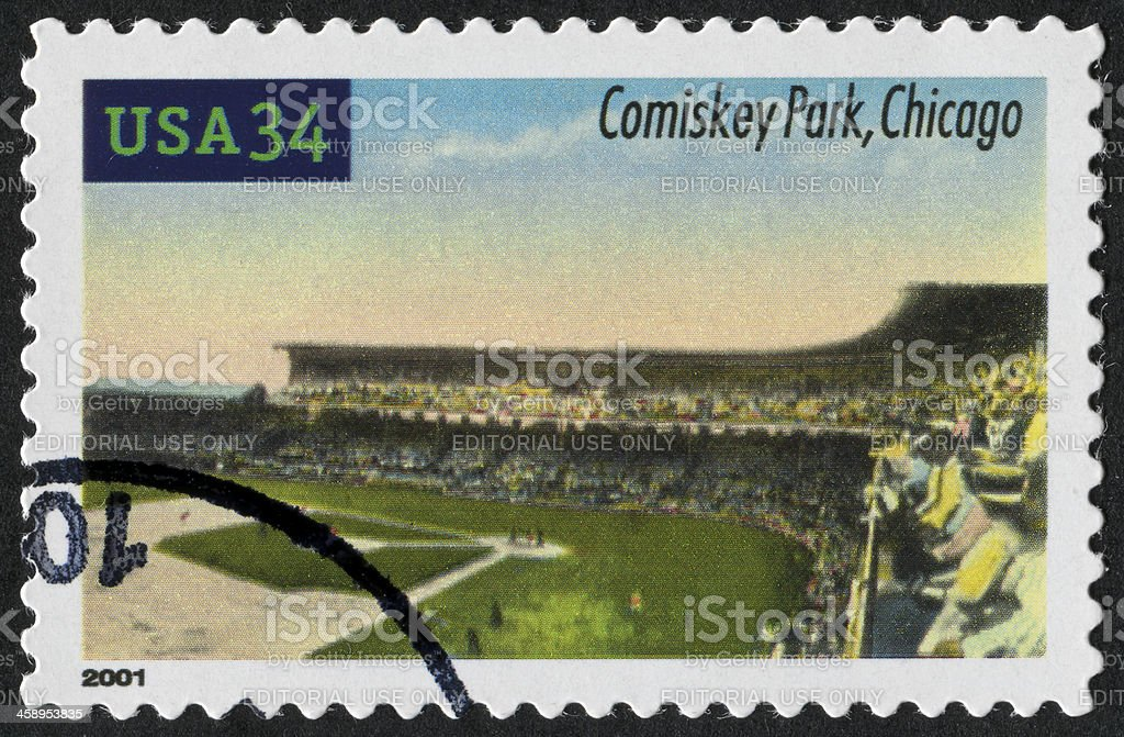 Comiskey Park, Chicago Stamp stock photo