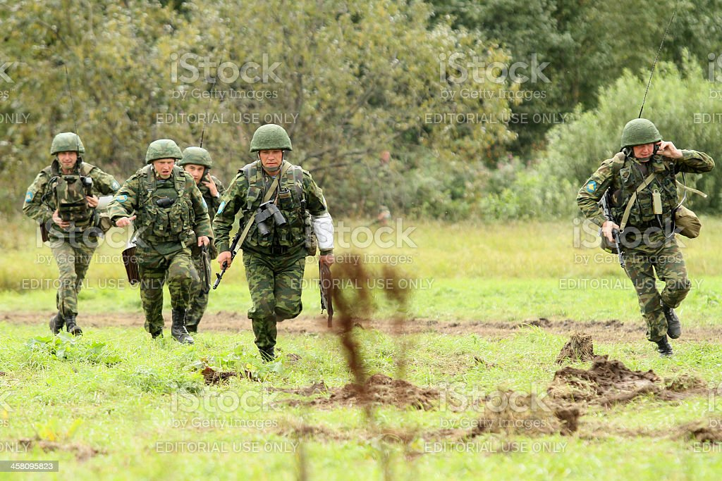 Command post exercises in Russia stock photo