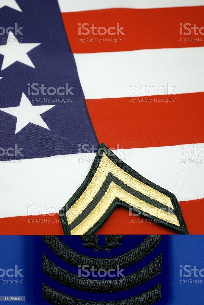 U.S. Command Sergeant Major Insignia royalty-free stock photo