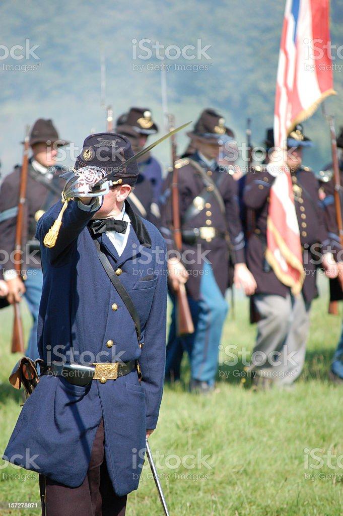 Commander. stock photo