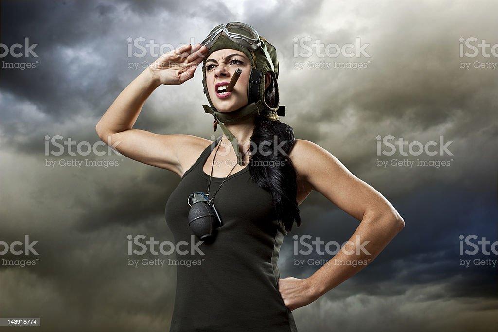 Commando Catherine stock photo