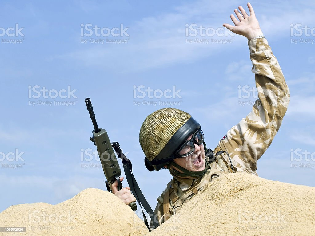 commando in action royalty-free stock photo