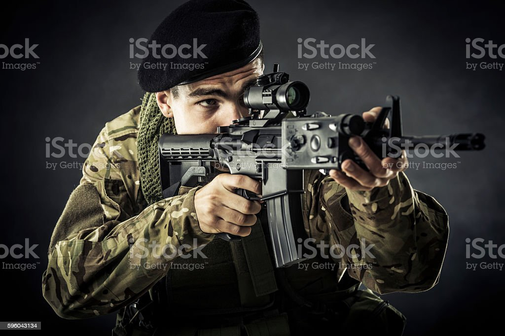 Commando stock photo