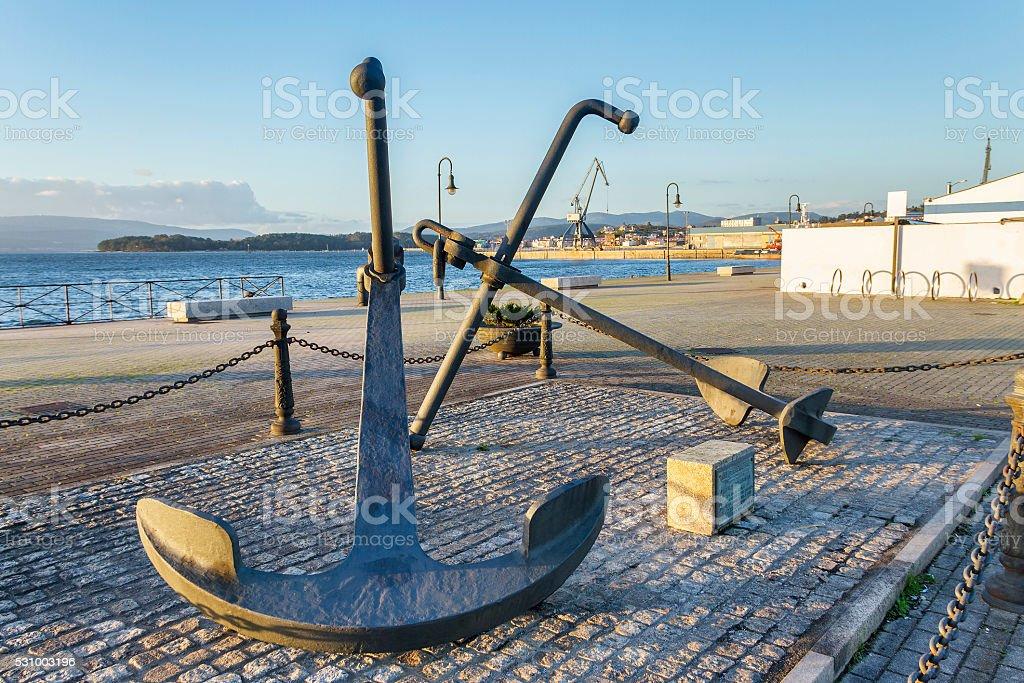 Commemorative anchors stock photo