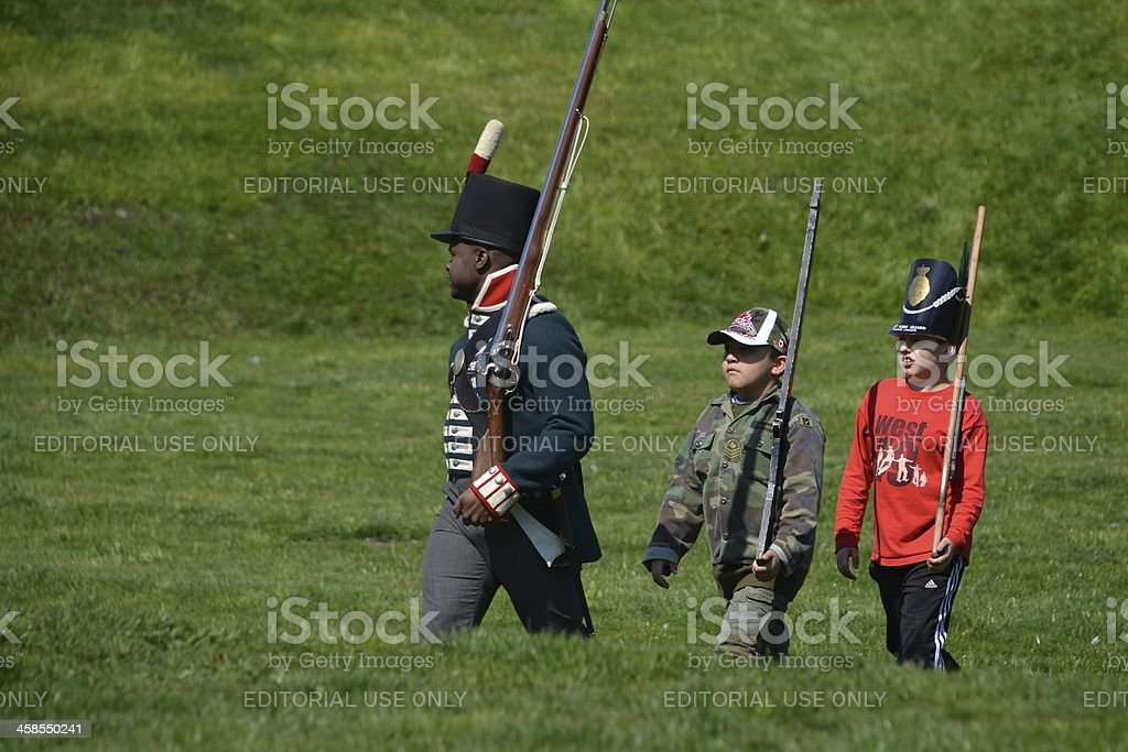 Commemorative ceremonies at Fort York royalty-free stock photo