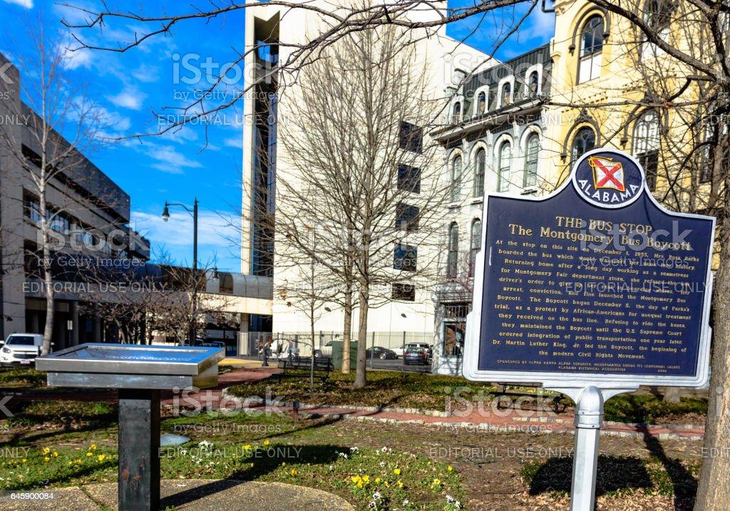 Commemorative Markers in Montgomery stock photo