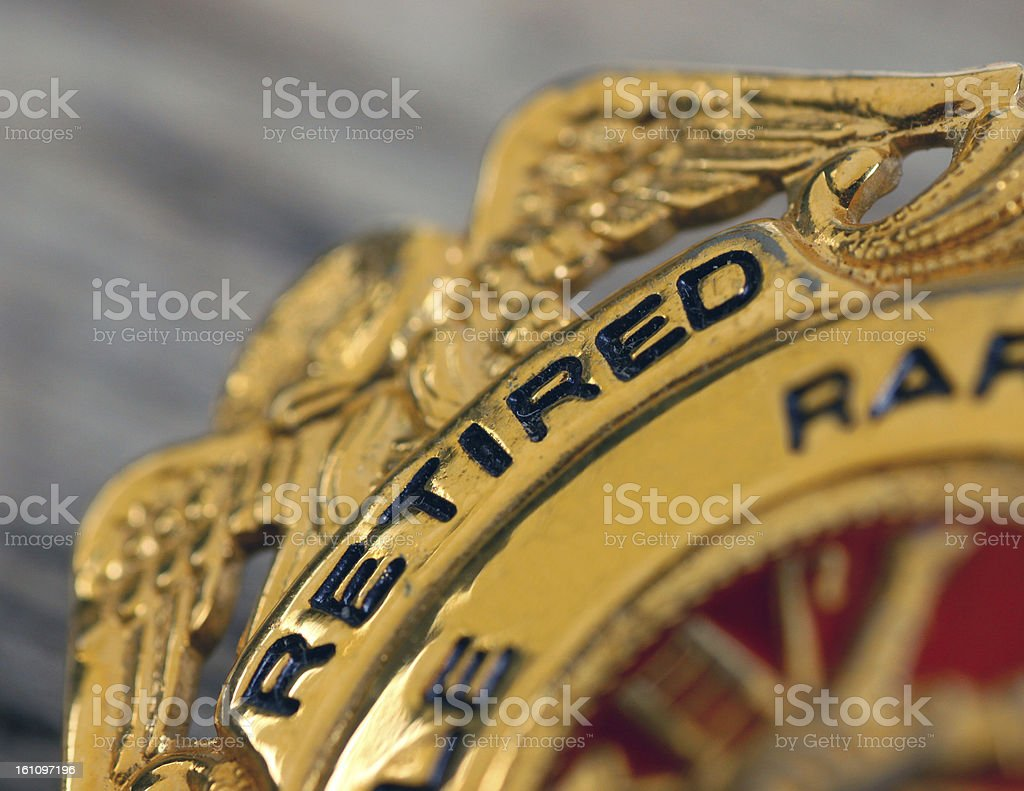 Commemorative Retirement Badge royalty-free stock photo