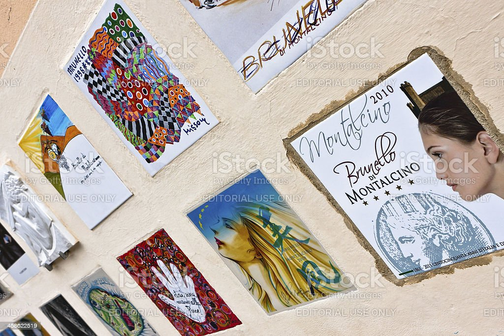 Commemorative Tiles for the Brunello di Montalcino Wine stock photo