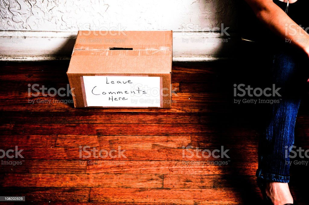 Comment Box royalty-free stock photo