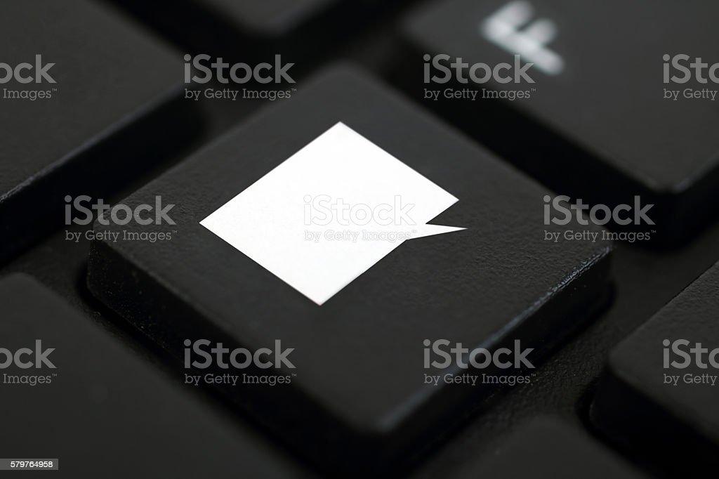Comment button stock photo