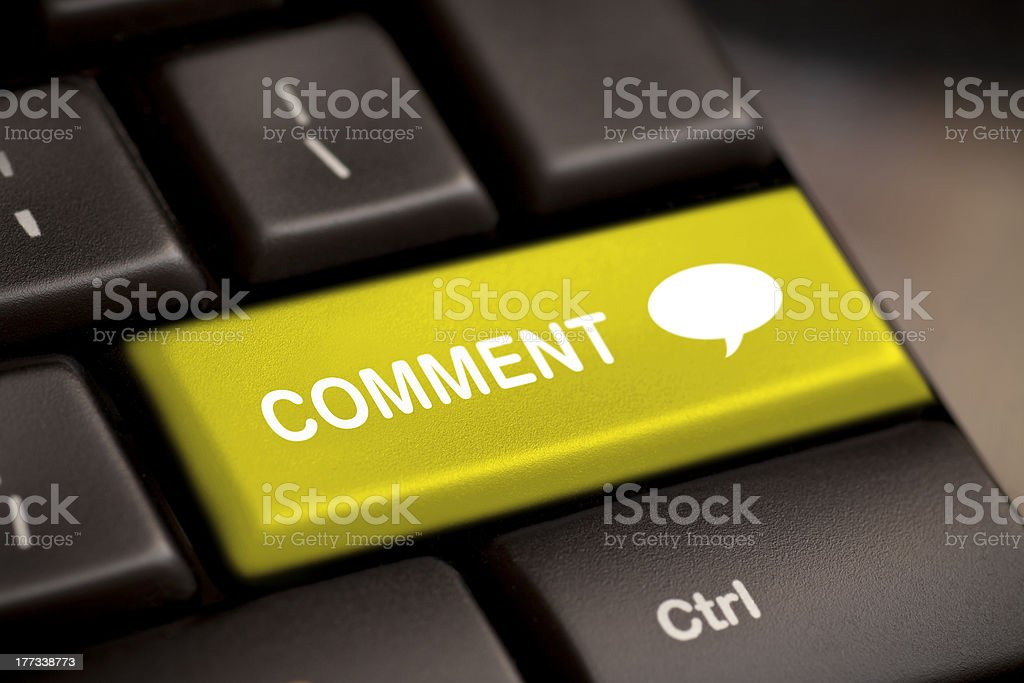 comment enter key royalty-free stock photo