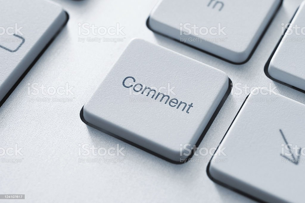 Comment Key royalty-free stock photo