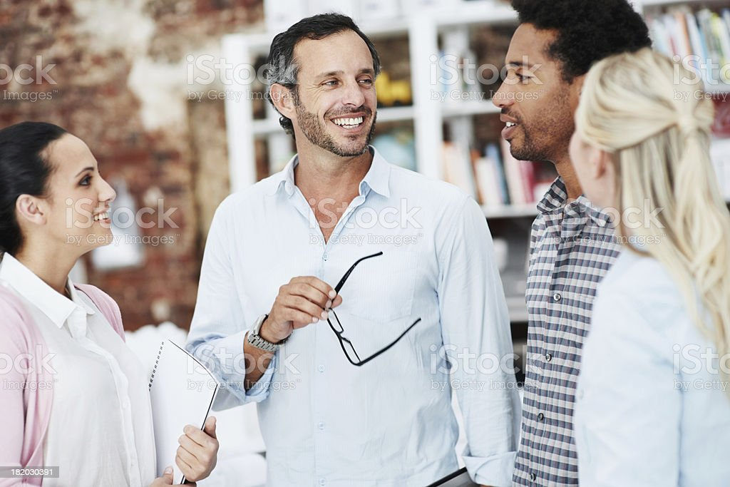 Commenting on a great suggestion stock photo