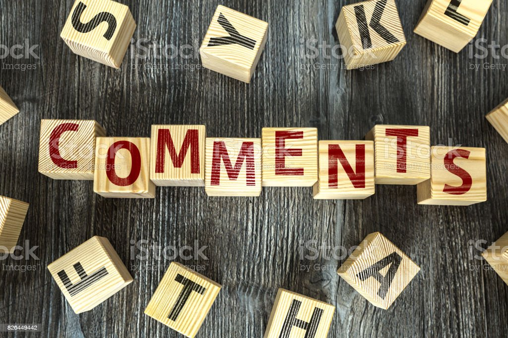 Comments stock photo