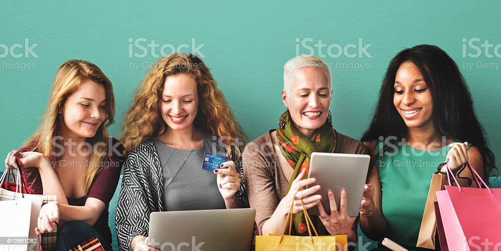 Commerce Consumer Merchandise Shopping Concept stock photo