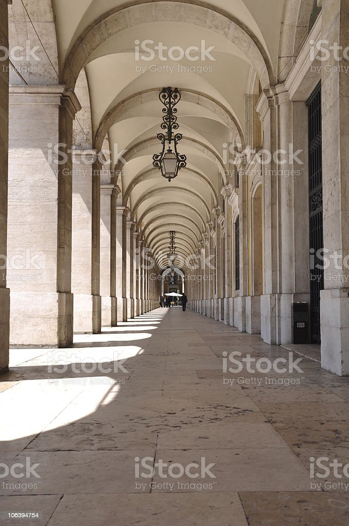 Commerce square arcades royalty-free stock photo