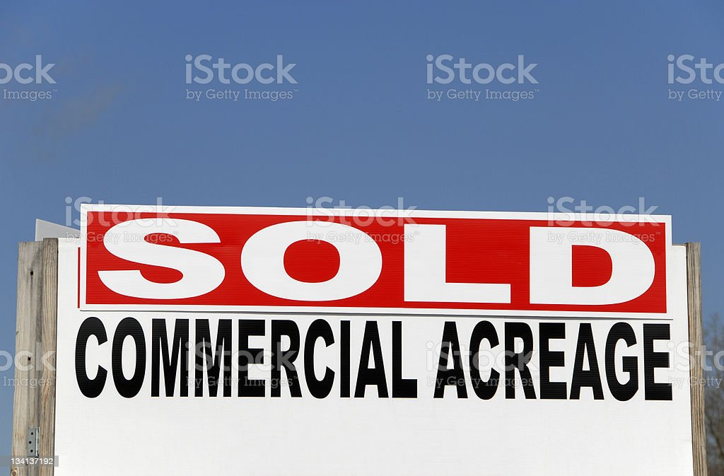SOLD - Commercial Acreage Sign royalty-free stock photo