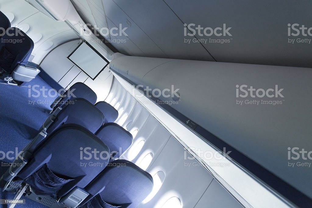 Commercial aircraft interiors royalty-free stock photo