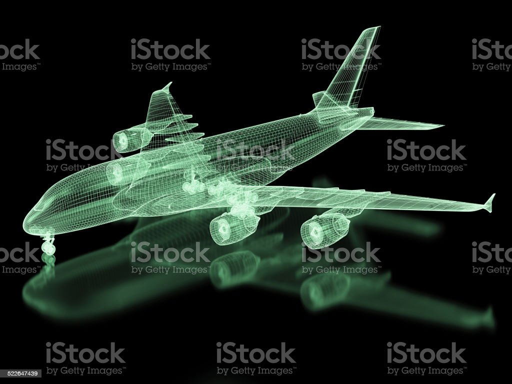 Commercial Aircraft Mesh stock photo