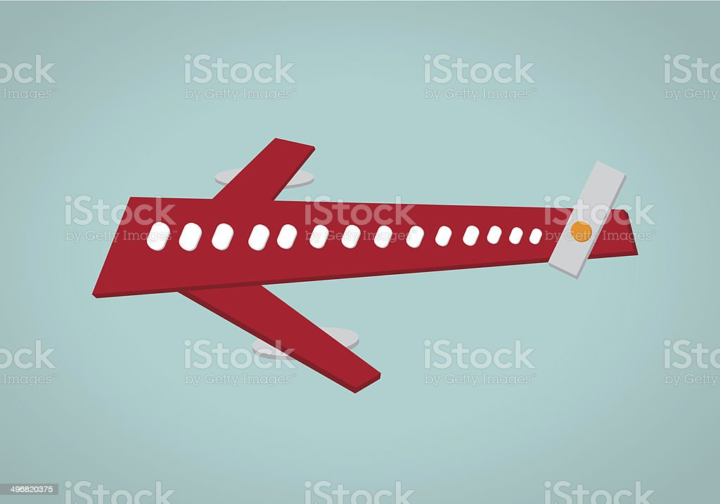 Commercial  Airplane royalty-free stock photo