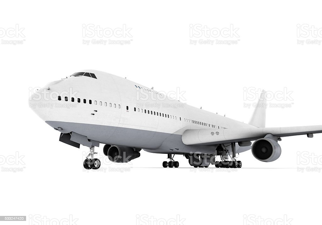 Commercial Airplane stock photo