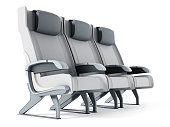 Commercial airplane seat