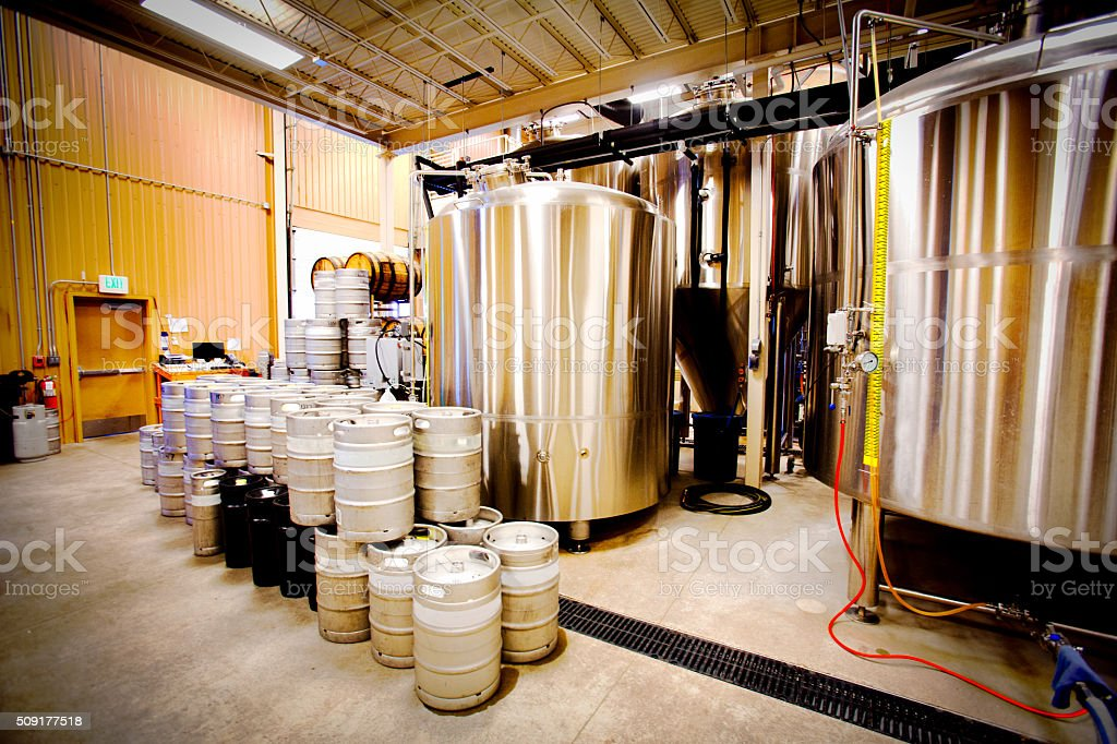 Commercial Brewery stock photo