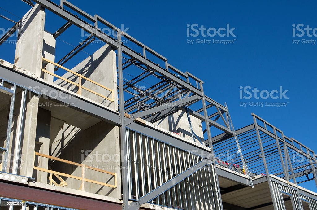 Commercial Building Construction stock photo