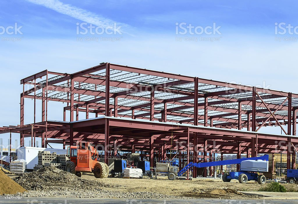 Commercial Building Construction Site royalty-free stock photo