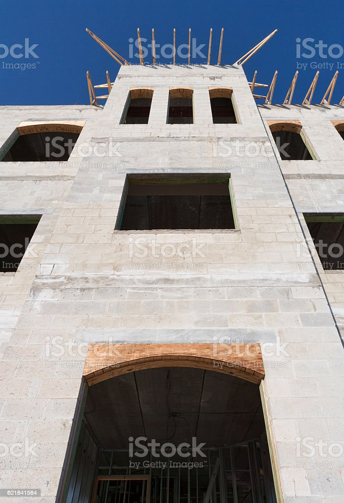 Commercial Building Under Construction stock photo