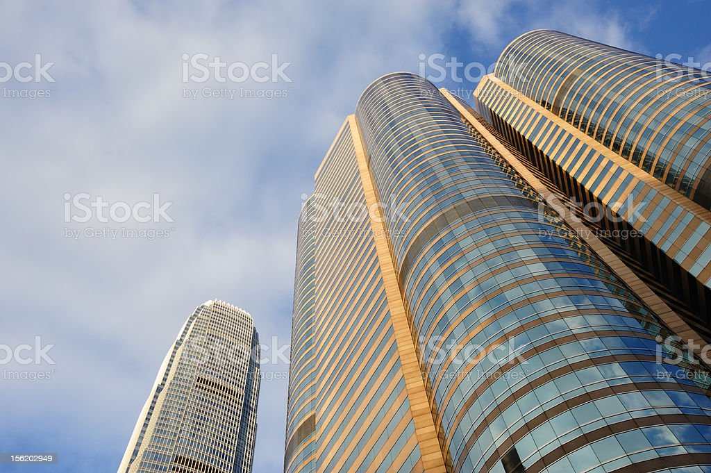 Commercial Buildings Background royalty-free stock photo