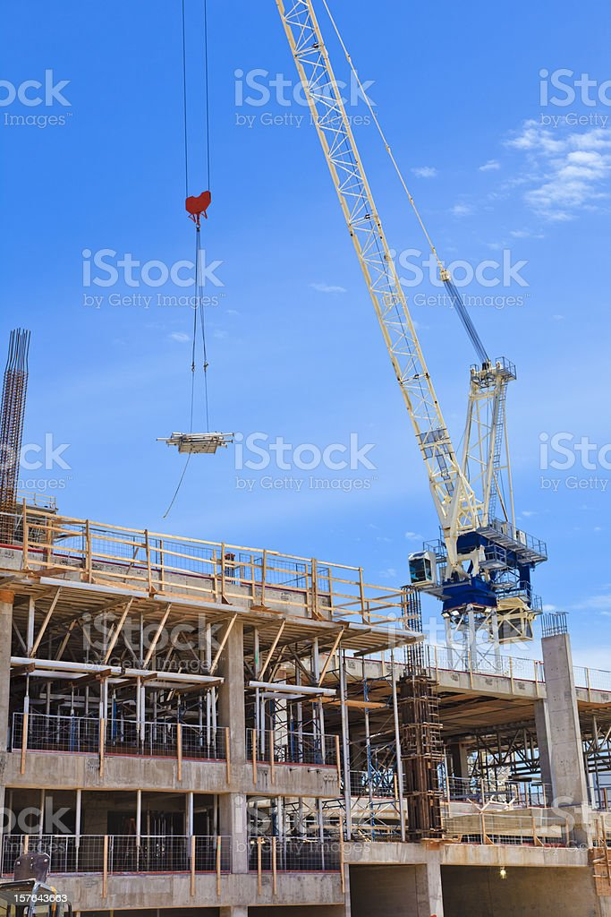 commercial construction in city royalty-free stock photo