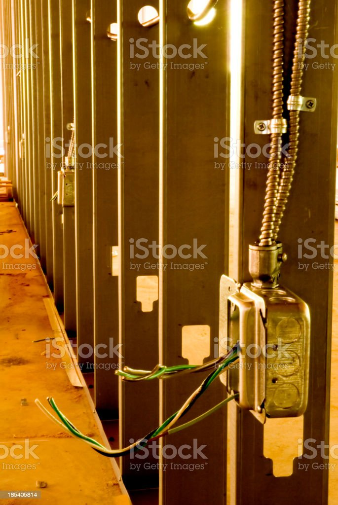 Commercial construction stock photo