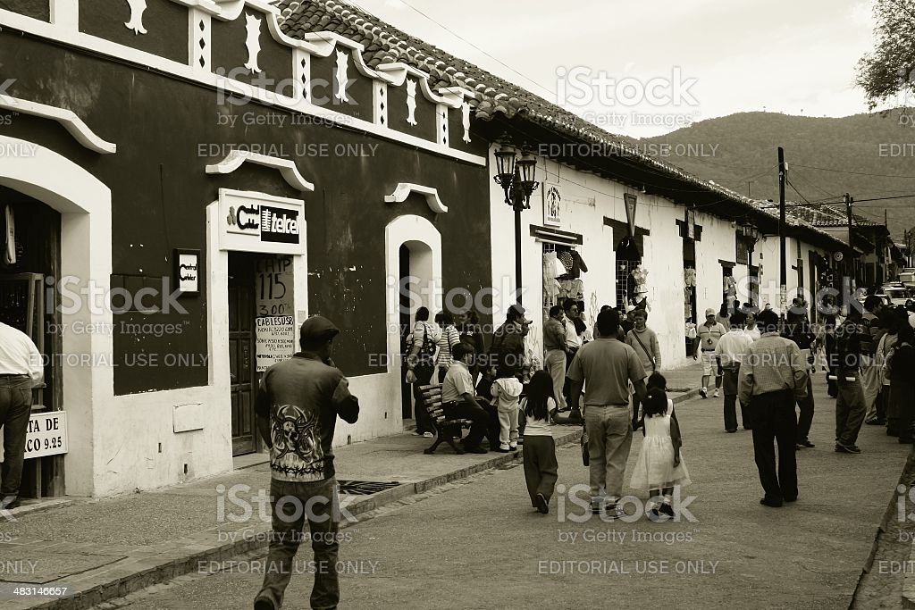 Commercial district at San Cristobal Chiapas Mexico royalty-free stock photo