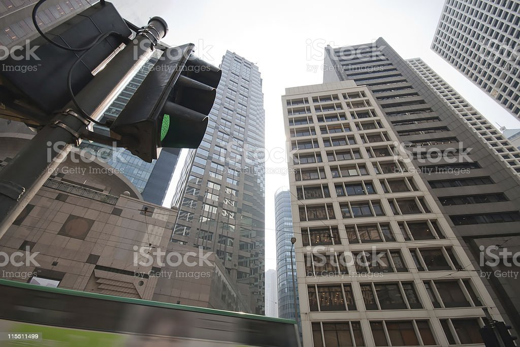 Commercial district - Skyscraper in Cental,Hong Kong stock photo