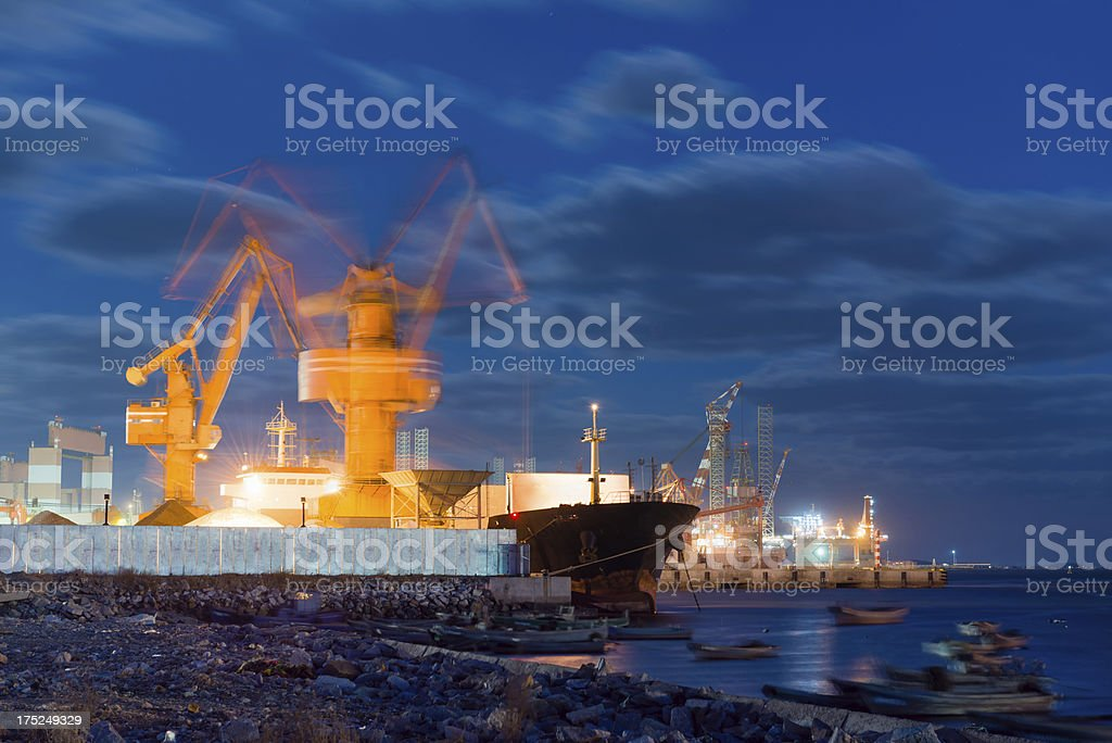 Commercial Dock Crane royalty-free stock photo