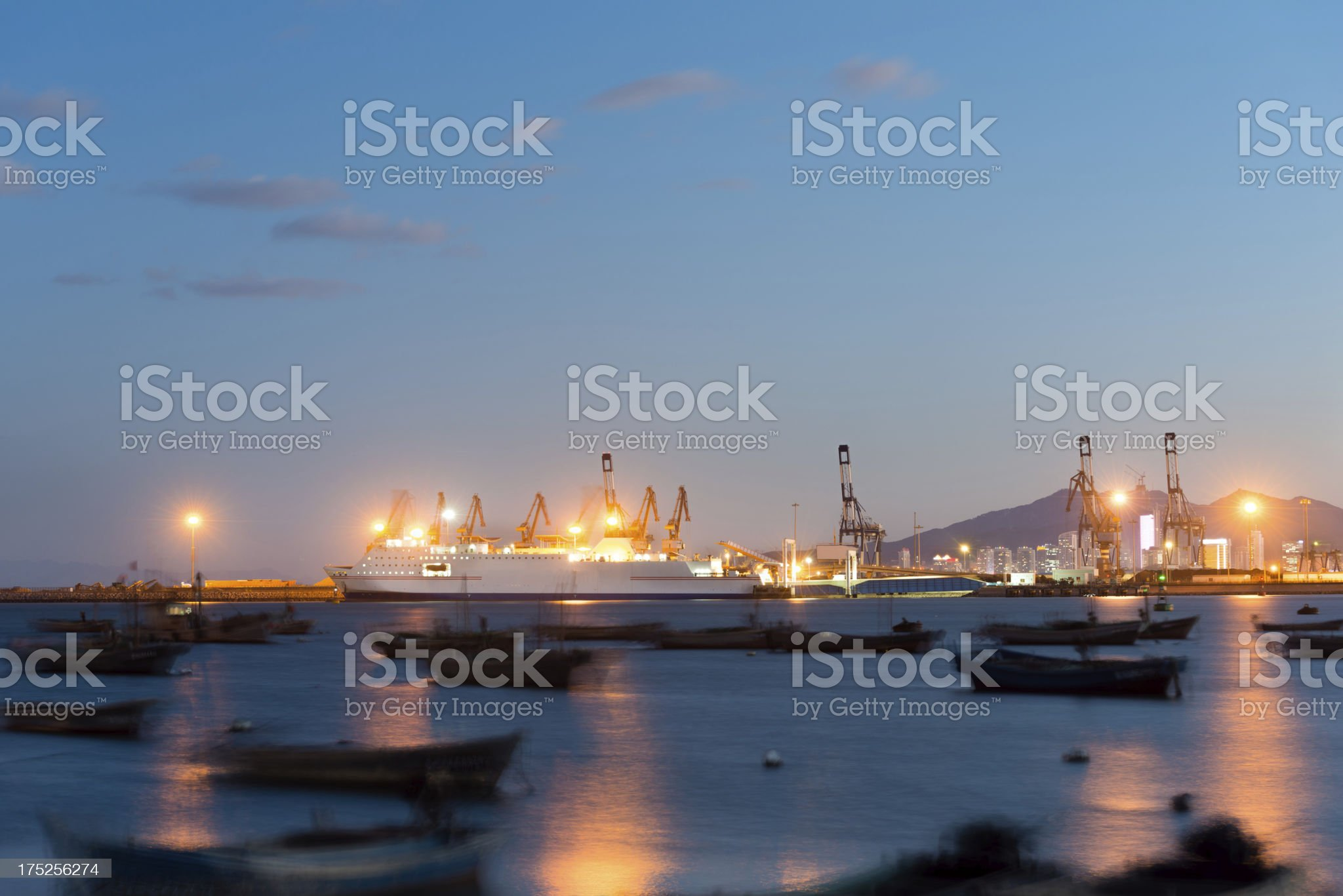 Commercial Dock Cruise Ship royalty-free stock photo