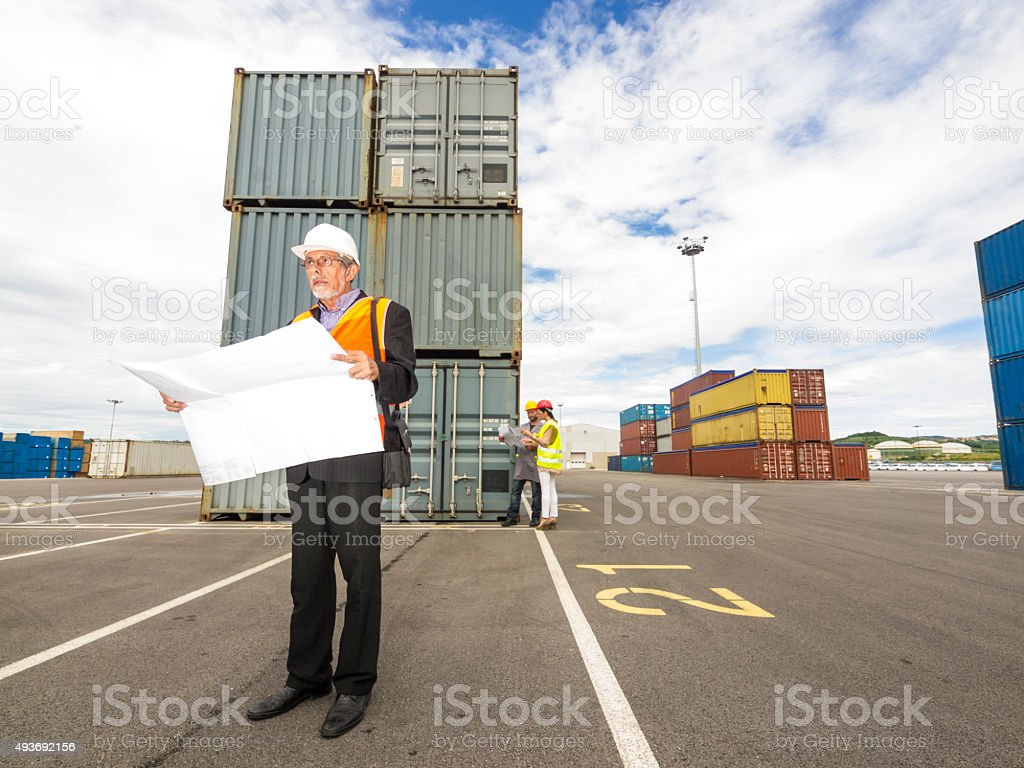 Commercial Dock stock photo