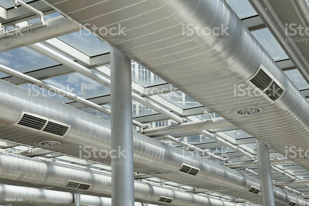 Commercial Ducting royalty-free stock photo