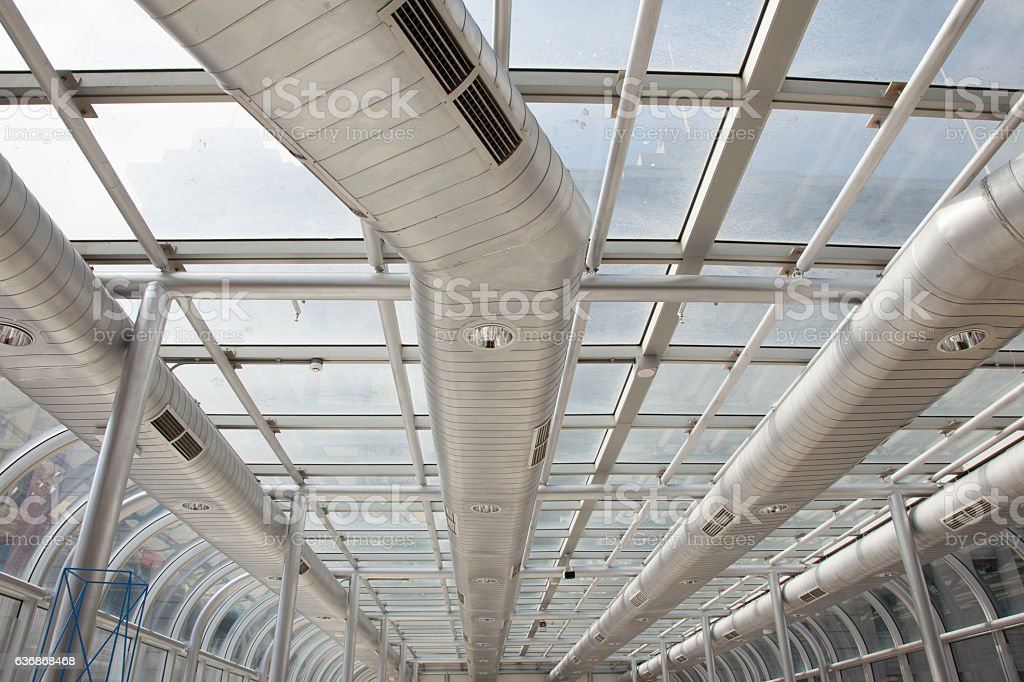 Commercial Ducting stock photo