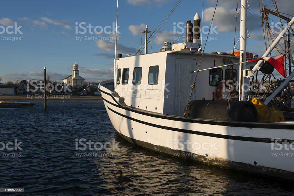 Commercial Fishing Boat At Dock royalty-free stock photo