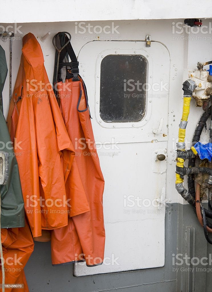 Commercial Fishing Boat Detail stock photo