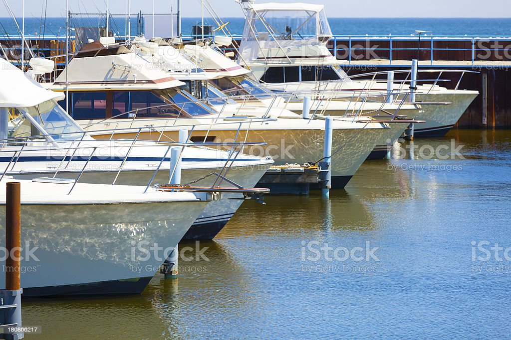 Commercial Fishing Boats in Harbor royalty-free stock photo