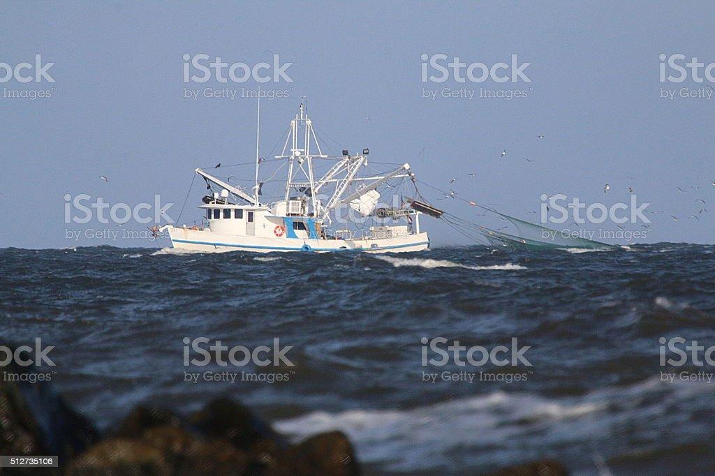 Commercial Fishing - Louisiana stock photo