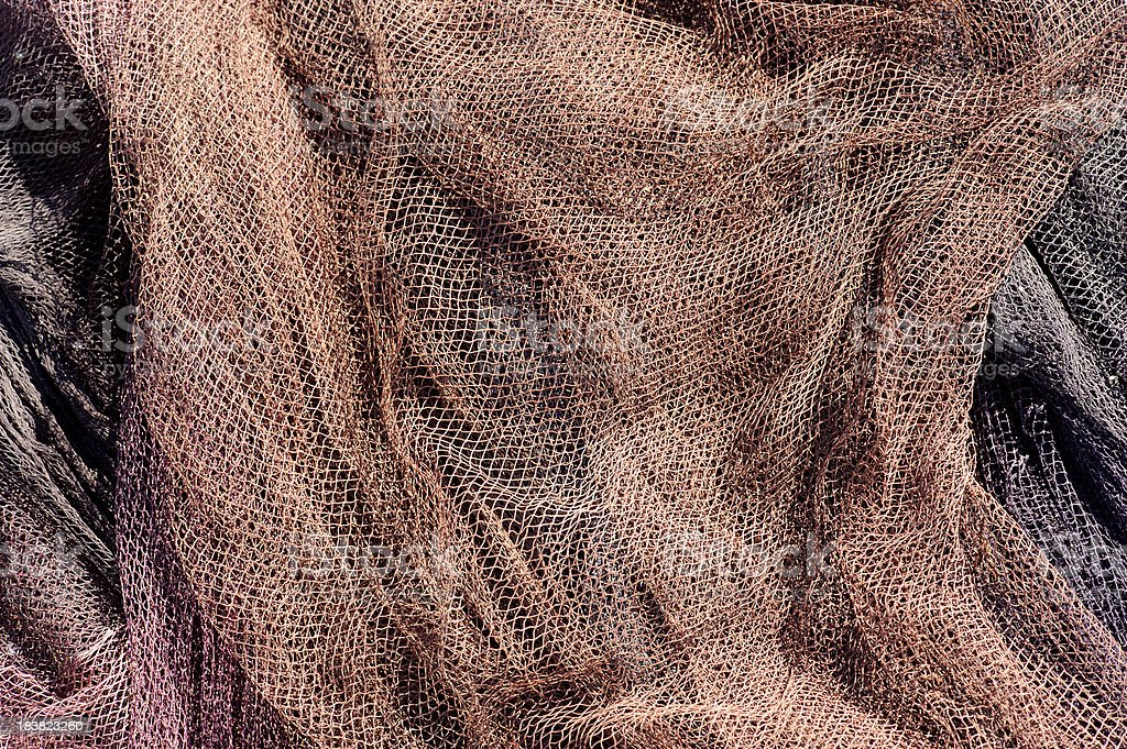 commercial fishing net stock photo