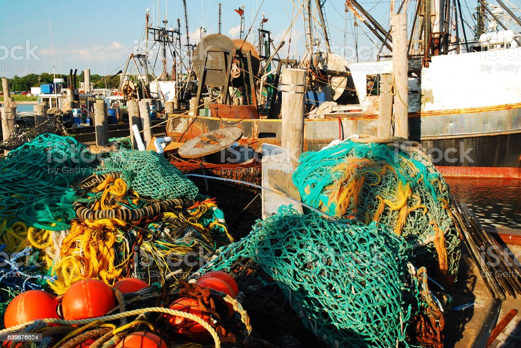 Commercial Fishing Vessels stock photo