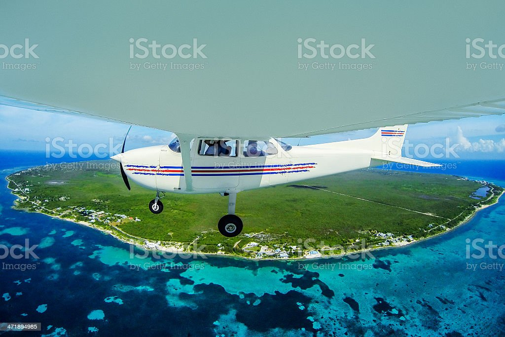 Commercial flight royalty-free stock photo