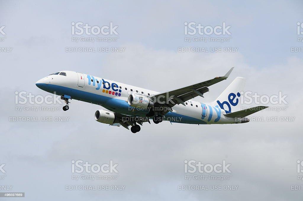 Commercial flight, U.K. stock photo