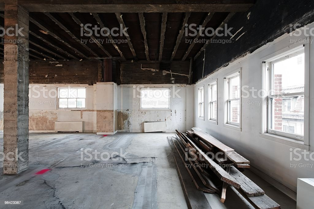 Commercial interior building remodel - energy upgrades stock photo